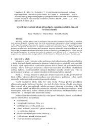 Využití interaktivní tabule při podpoře experimentálních činností ve ...