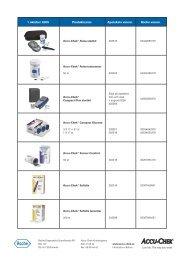 1 oktober 2005 Produktnamn Apotekets varunr. Roche ... - Accu-Chek