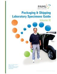 Packaging & Shipping Laboratory Specimens Guide - PAML
