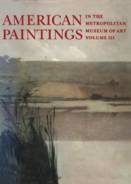 American Paintings in The Metropolitan Museum of Art. Volume III