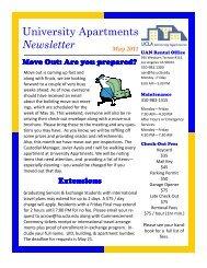 UAN Undergrad Newsletter 05-2011 - UCLA - Housing