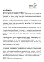 Pressemitteilung - HANSA Baugenossenschaft eG