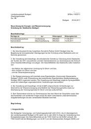 Landeshauptstadt Stuttgart Oberbürgermeister Gz ... - Bürgerbegehren