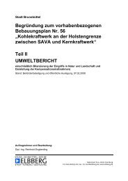 Begründung B-Plan 56, Teil 2 (Umweltbericht) - WIR-Brunsbuettel.de