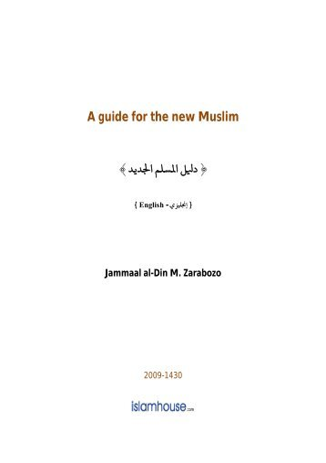 A Guide for the New Muslim (PDF) - Mission Islam