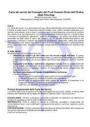 la carta in formato pdf - Ordine degli Psicologi