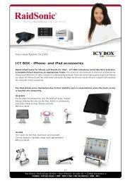 ICY BOX - iPhone- and iPad accessories - Raidsonic