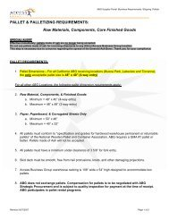 PALLET & PALLETIZING REQUIREMENTS: Raw ... - Supplier Portal