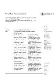 Protokoll zur Preisgerichtssitzung - Competitionline