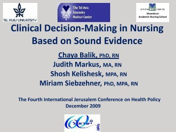 decision making in nursing Strategic management and decision making for nurse  identify and address the challenges that nurse executives may face in incorporating nursing best.