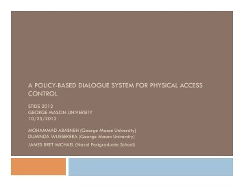 a policy-based dialogue system for physical access control
