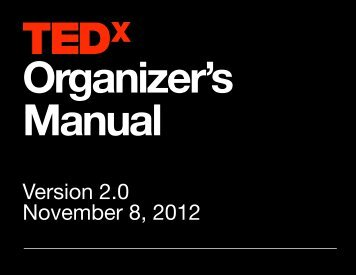 Organizer's Manual - - Version 2.0 - TED.com