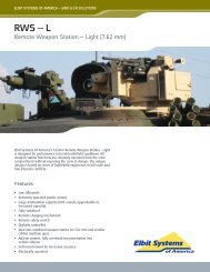 Remote Weapon Station - Light Data Sheet - Elbit Systems of America