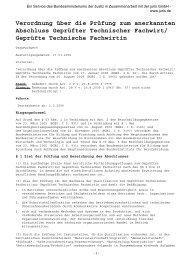 Verordnung über die Prüfung zum anerkannten ... - VDV-Karriere