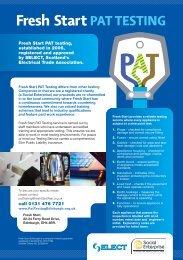 PAT TESTING - Voluntary Sector Gateway West Lothian
