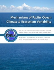 Mechanisms of Pacific Ocean Climate & Ecosystem Variability