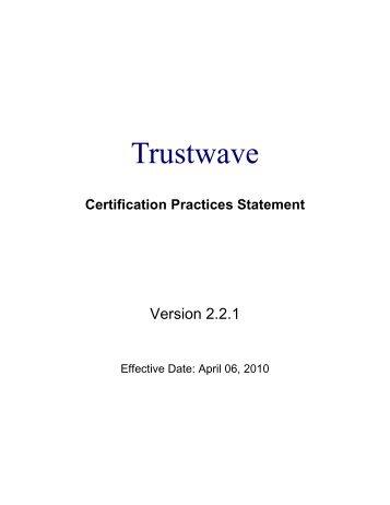 Certification Practices Statement - SSL By Trustwave