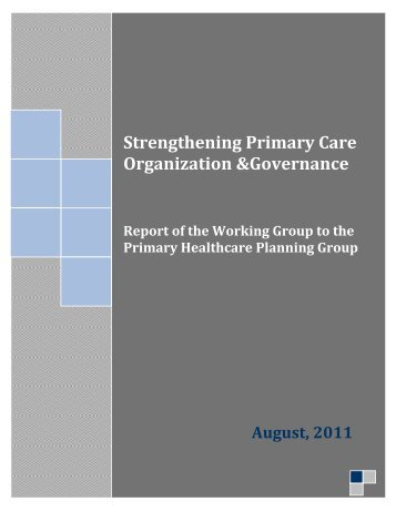 Strengthening Primary Care Organization and Governance - Trillium ...