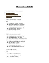 LIST OF FACULTY MEMBERS - maids