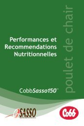 Performances et Recommendations Nutritionnelles - Cobb-Vantress