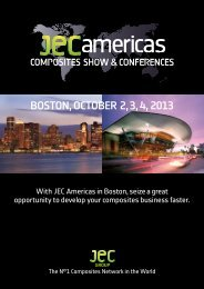 BOSTON, OCTOBER 2, 3, 4, 2013 -  JEC Composites