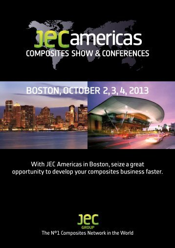 BOSTON, OCTOBER 2, 3, 4, 2013 -  JEC Composites