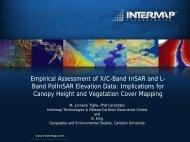 Biomass Studies using X- abd C Band InSAR - Carleton University