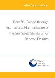 Benefits Gained through International Harmonization of Nuclear ...