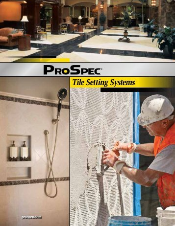 Tile Setting Product Catalog - Prospec