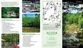 Audra State Park Brochure - West Virginia Department of Commerce