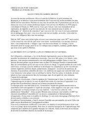 OBSEQUES DU PERE SARRAZIN - Les Maitrisiens