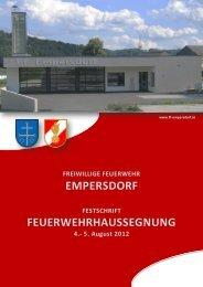 Festschrift FF-Empersdorf - Freiwillige Feuerwehr Empersdorf