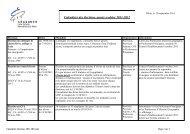 Calendrier des élections, année scolaire 2011-2012