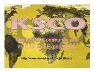 KSCO-2006 Presentation (PDF - 5MB) - Artificial Intelligence ...