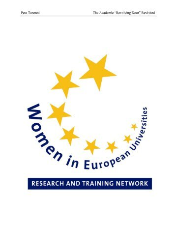 Gender Equality at European Universities within the Context of ...