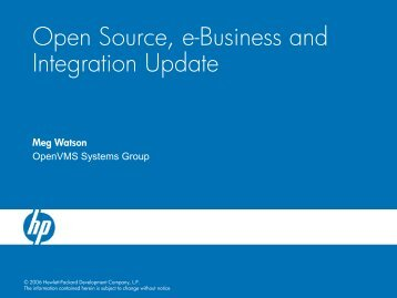Open Source, e-Business and Integration Update