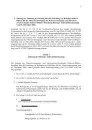 1 2. Satzung zur Änderung der Satzung über die Erhebung von ...