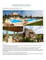 Villa Malavar, Gracisce Nr Rabac, Istria - CroatiaGems