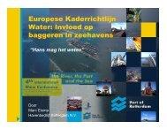 Europese Kaderrichtlijn Water: Invloed op baggeren in zeehavens