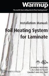 Installation manual - Warmup