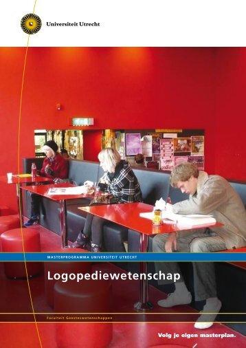 Logopediewetenschap - Universiteit Utrecht