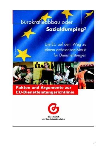 """Die """"EU-Dienstleistungsrichtlinie"""" Fakten und ... - Attac Deutschland"""