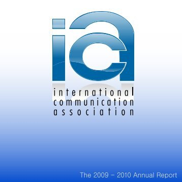 The 2009 - 2010 Annual Report - International Communication ...