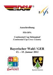 Bayerischer Wald / GER - ALGE Timing Pflanzl