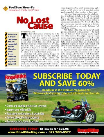 subscribe today and save 60% subscribe today and ... - RoadBike