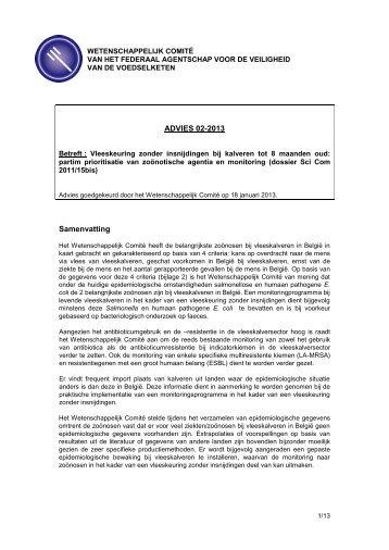 Advies 02-2013 - Favv