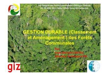 Exposé I - Centre Technique de la Forêt Communale