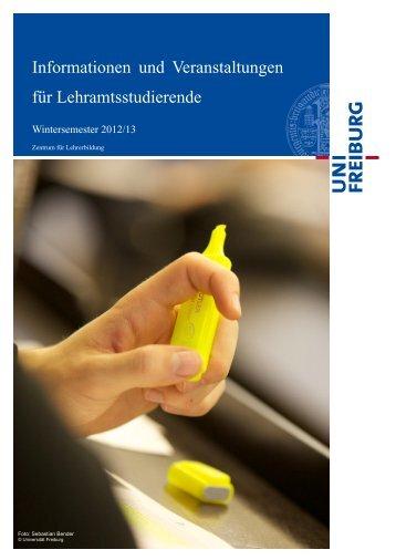 VVZ-LA WS 2012-13.pdf - Zentrum für Lehrerbildung - Albert ...