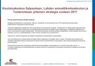 Strategia vuoteen 2017 - Lahden ammattikorkeakoulu