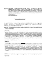 Risposte alle richieste di chiarimenti - Azienda Ospedaliera ...